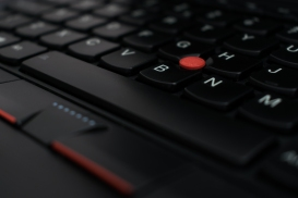 Laptop keyboard with trackpoint
